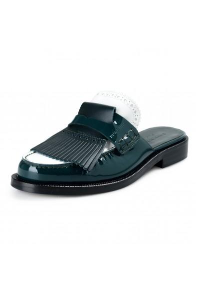 Burberry London Women's BECKSHILL Multi-Color Patent Leather Flip Flop Shoes