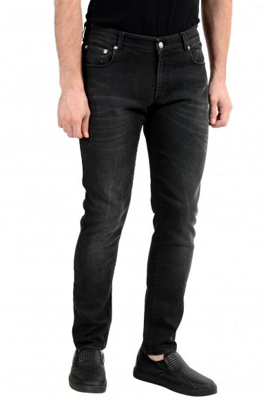 Versus by Versace Men's Gray Stretch Slim Jeans: Picture 2