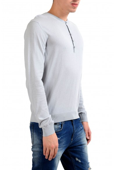 Malo Men's Gray Henley Light Sweater: Picture 2