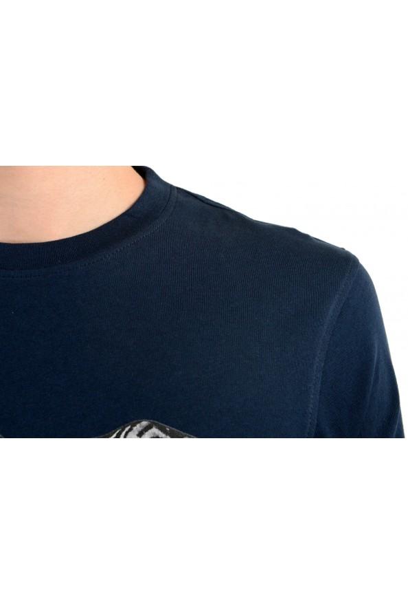 Roberto Cavalli Men's Blue Graphic Print T-Shirt : Picture 4