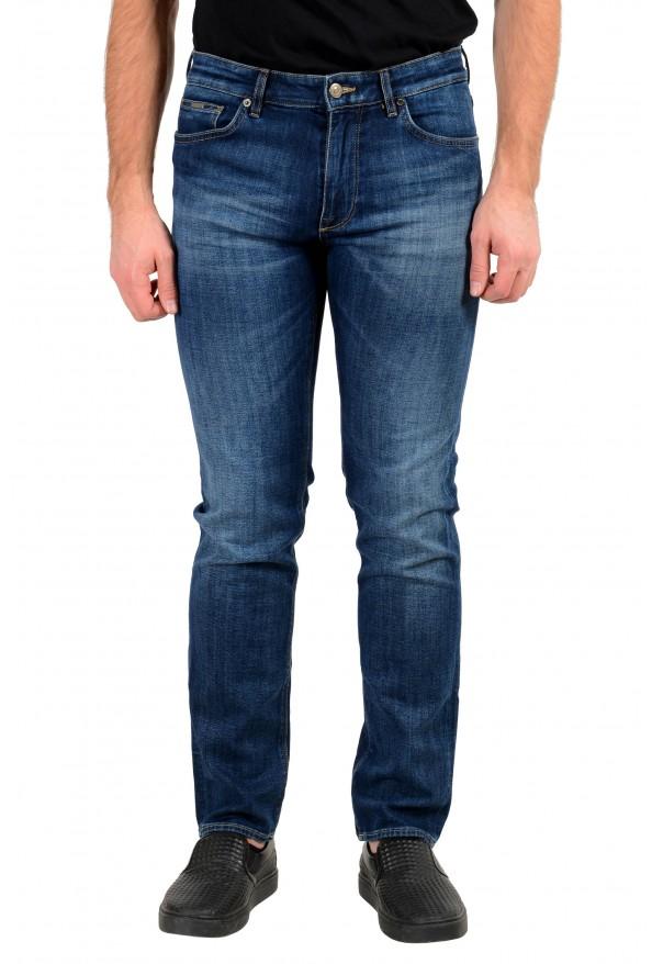 """Hugo Boss Men's """"Maine3"""" Regular Fit Blue Wash Stretch Jeans"""