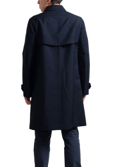 Prada Men's Navy Mohair Wool Button Down Trench Coat : Picture 2