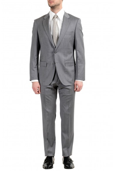 "Hugo Boss ""T-Harvers4/Glover2"" Men's 100% Wool Two Button Suit"
