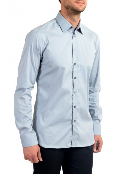 Malo Men's Blue Stretch Long Sleeve Dress Shirt