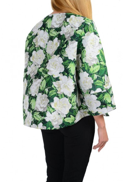 """Moncler """"Anastasie Giubbotto"""" Gamme Rouge Multi-Color Floral Basic Jacket: Picture 2"""