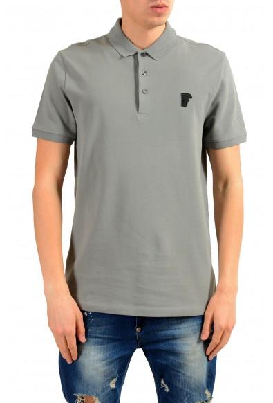 Versace Collection Men's Gray Short Sleeve Polo Shirt
