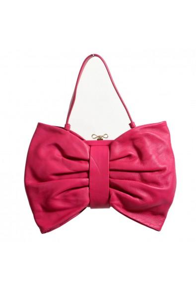 Red Valentino Women's Purplish Pink 100% Leather Bow Handbag Shoulder Bag