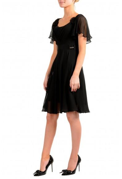 John Galliano Women's Black 100% Silk See Through Dress: Picture 2