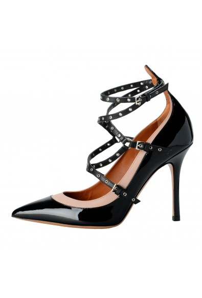 Valentino Garavani Women's Patent Leather Two Tones Ankle Strap High Heels Shoes: Picture 2