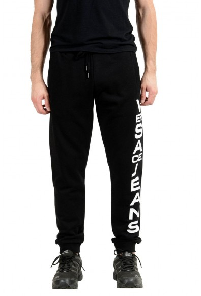 Versace Jeans Men's Black Logo Sweatpants