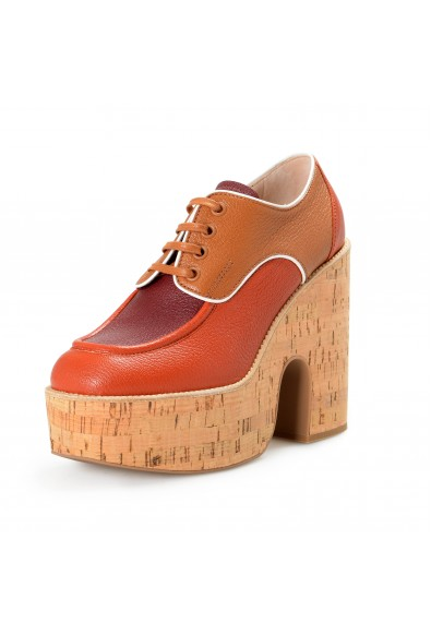 Miu Miu Women's 5E017D Leather High Heel Platform Boots Shoes