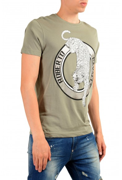 Roberto Cavalli Men's Gray Graphic Print T-Shirt: Picture 2