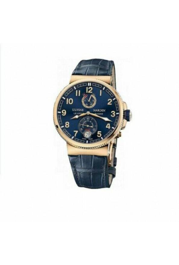 Ulysse Nardin Men Alligator Band Automatic Marine Chronometer Watch 1186-126/43