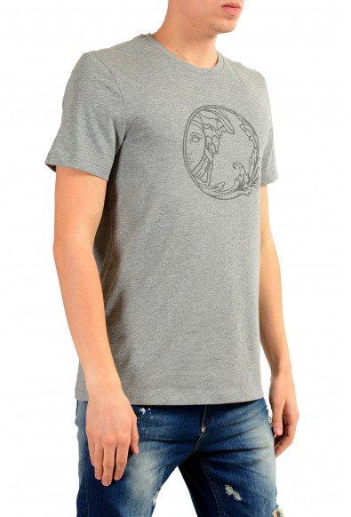 Versace Collection Men's Gray Graphic Print T-Shirt: Picture 2