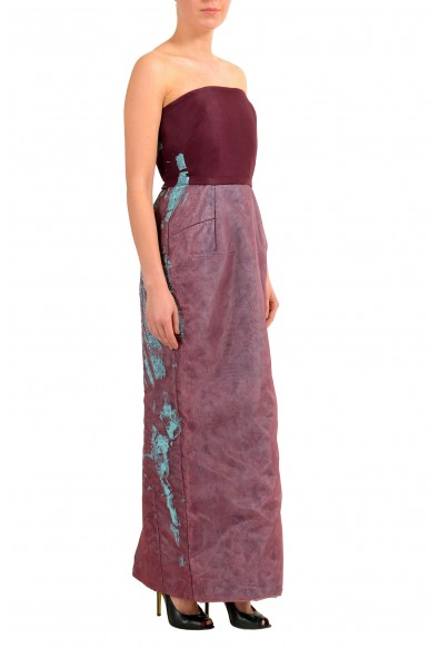 Maison Margiela Women's Burgundy Painted Corset Maxi Dress: Picture 2