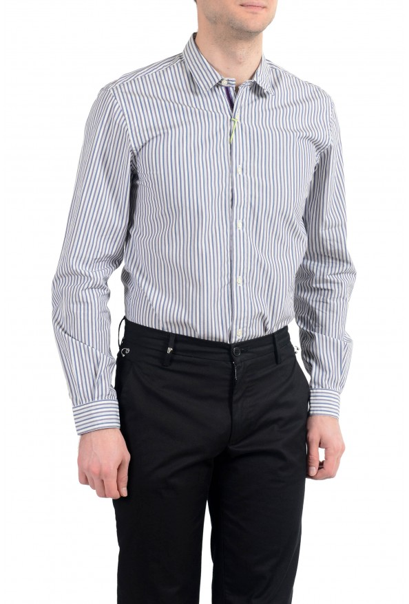 Etro Men's Multi-Color Striped Long Sleeve Button Down Casual Shirt: Picture 3