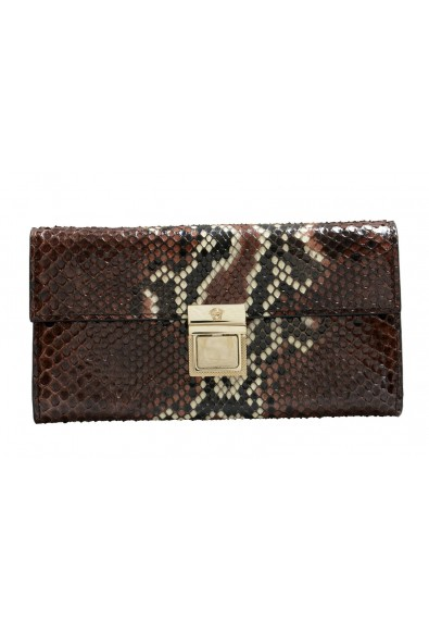 Versace Women's Multi-Color Python Skin Leather Wallet Clutch