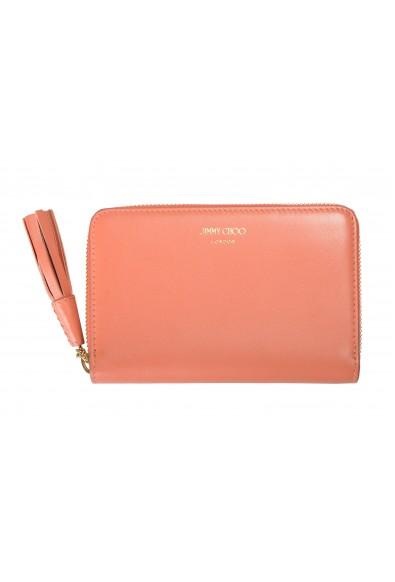 "Jimmy Choo Women's Powder Pink Leather ""ATHINI"" Zip Around Wallet"