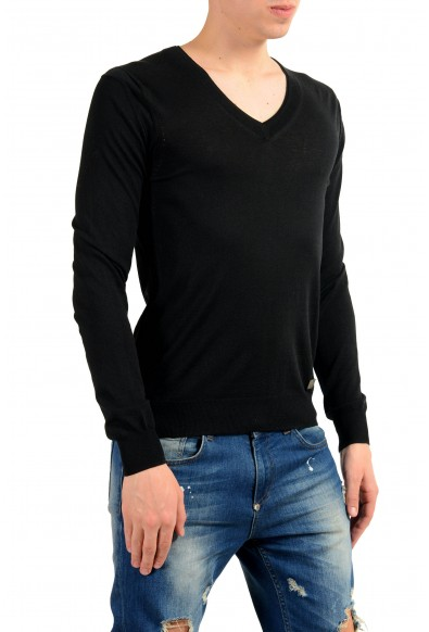 Versace Collection Men's Silk V-Neck Black Sweater : Picture 2