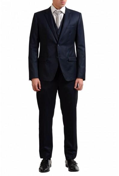 Dolce & Gabbana Men's 100% Wool Two Button Three Piece Suit