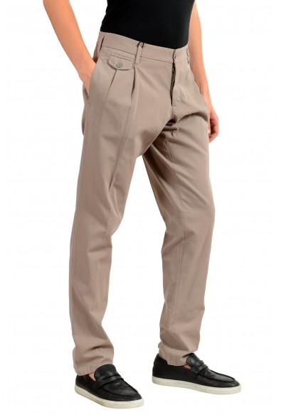 Dolce & Gabbana Men's Beige Pleated Dress Pants: Picture 2
