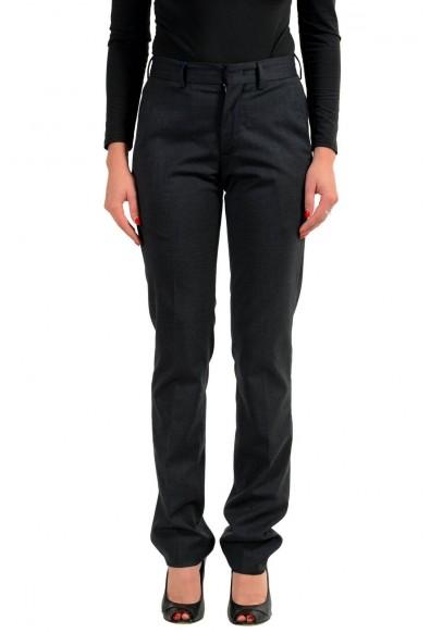 Moncler Women's Wool Gray Casual Pants