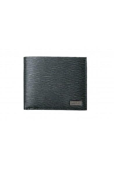 Salvatore Ferragamo Men's 100% Textured Leather Green Bifold Wallet