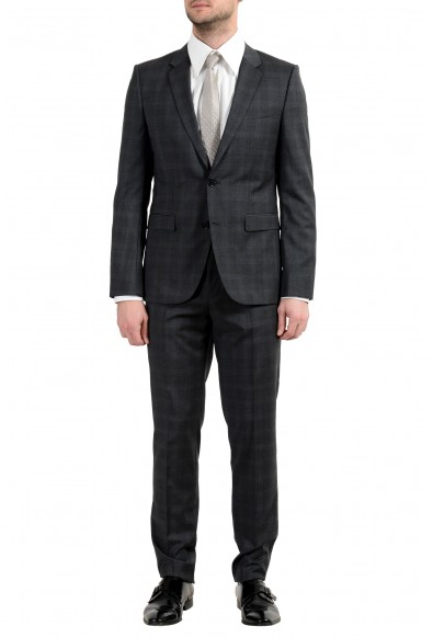 "Hugo Boss ""Astian/Hets"" Men's 100% Wool Gray Extra Slim Two Button Suit"