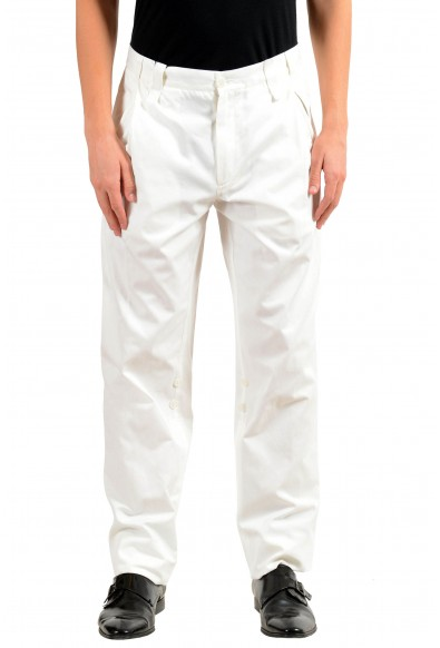 Dolce & Gabbana Men's White Adjustable Casual Pants