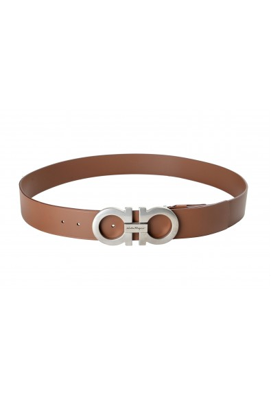 Salvatore Ferragamo Men's Brown 100% Leather Buckle Decorated Belt: Picture 2