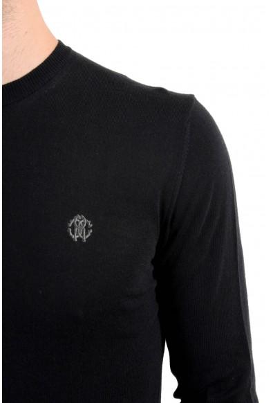 Roberto Cavalli Men's Cashmere Black Henley Sweater: Picture 2