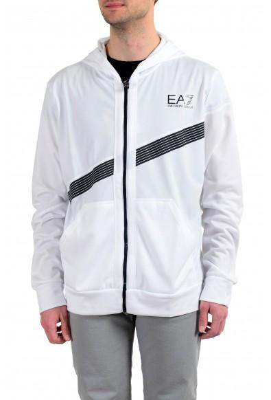 "Emporio Armani EA7 ""Air Duct"" Men's White Full Zip Hoodie"