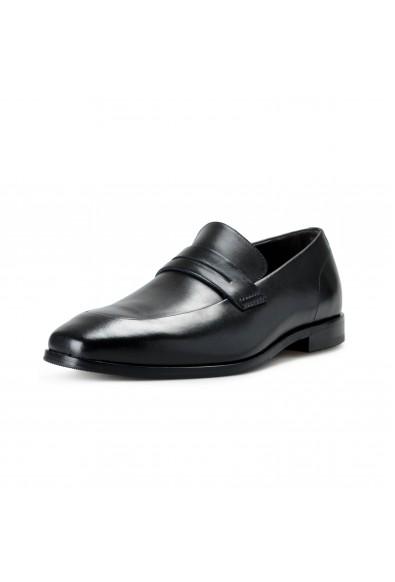 """Hugo Boss Men's """"Highline_Loaf_bupe"""" Black Leather Loafer Slip On Shoes"""