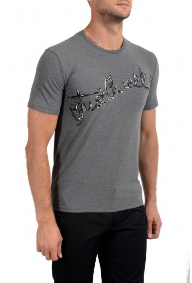 Just Cavalli Men's Gray Graphic Print Crewneck Stretch T-Shirt: Picture 2