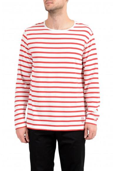 Burberry Men's Striped Long Sleeve Crewneck T-Shirt