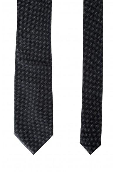 Hugo Boss Men's Black Geometric Print 100% Silk Tie: Picture 2