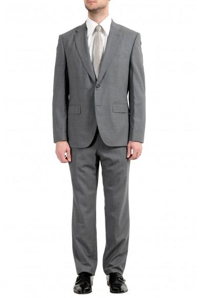 "Hugo Boss ""Jets4/Lenon1"" Men's 100% Wool Gray Two Button Suit"