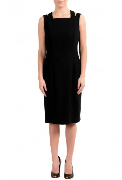 "Hugo Boss ""Daphima"" Women's Black Sleeveless Sheath Dress"