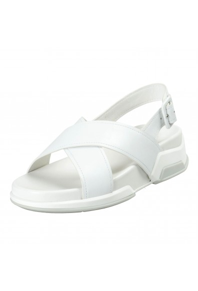 Prada Women's White Leather Strappy Open Toe Sandals Shoes