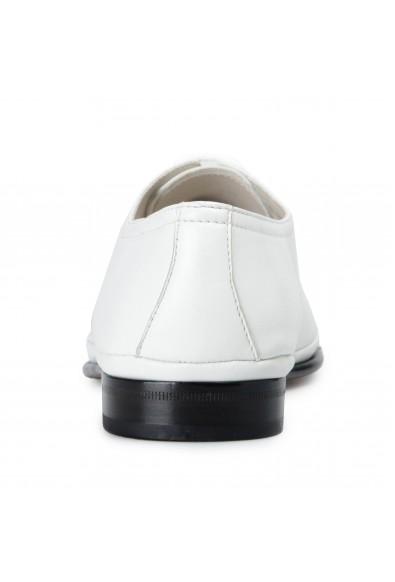 Salvatore Ferragamo Men's Maltes 02 White Leather Oxfords Shoes : Picture 2