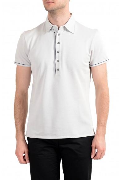Malo Men's Gray Silk Short Sleeve Polo Shirt