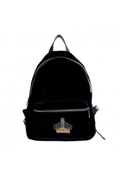 Versace 'n' Royalty Men's DFZ6735-DVEL Blue Velour Backpack