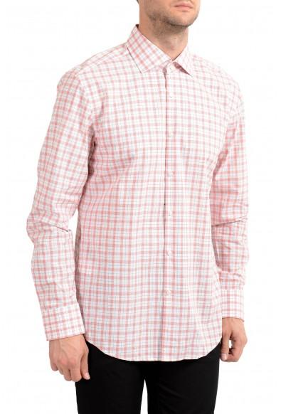 "Hugo Boss Men's ""Prince"" Slim Fit Plaid Long Sleeve Dress Shirt"