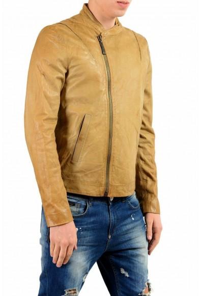 Just Cavalli Men's 100% Leather Brown Full Zip Jacket: Picture 2