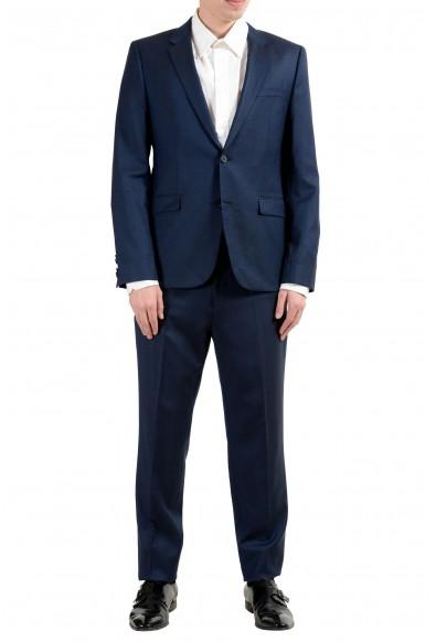 "Hugo Boss ""Astian/Hets"" Men's 100% Wool Extra Slim Blue Two Button Suit"