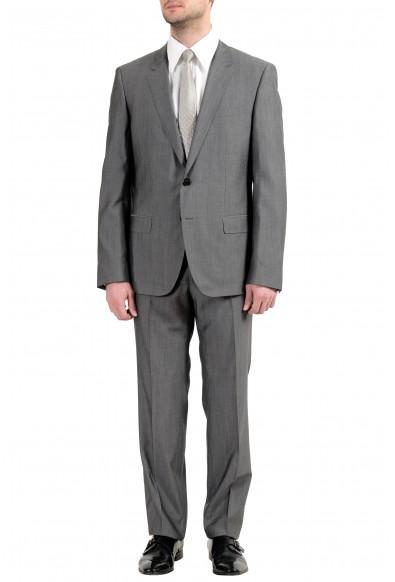 """Hugo Boss """"C-Huge1/C-Genius"""" Men's Silk Wool Gray Two Button Suit"""