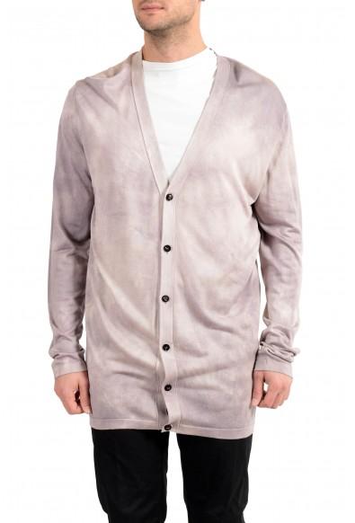 Versace Men's 100% Silk Cardigan Pullover Sweater