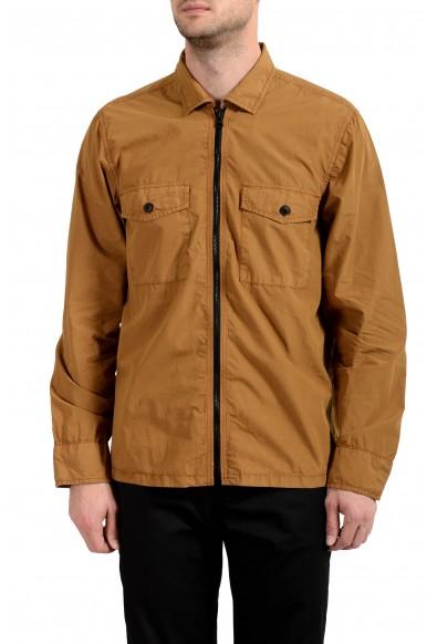 """Hugo Boss """"Lovel-zip"""" Men's Brown Full Zip Windbreaker Jacket"""