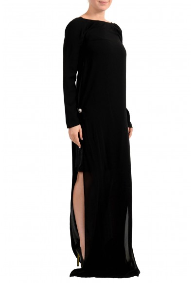 Versus by Versace Women's Black See Through Maxi Evening Dress : Picture 2