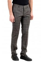"Hugo Boss ""Genesis3"" Men's 100% Wool Gray Plaid Dress Pants : Picture 2"